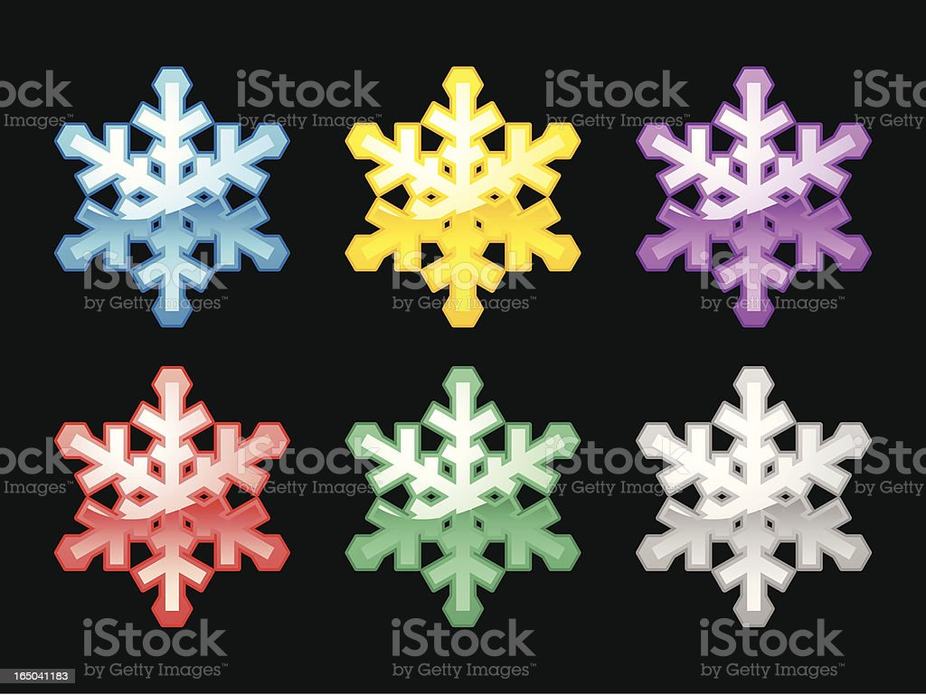 Assorted Snowflakes royalty-free stock vector art