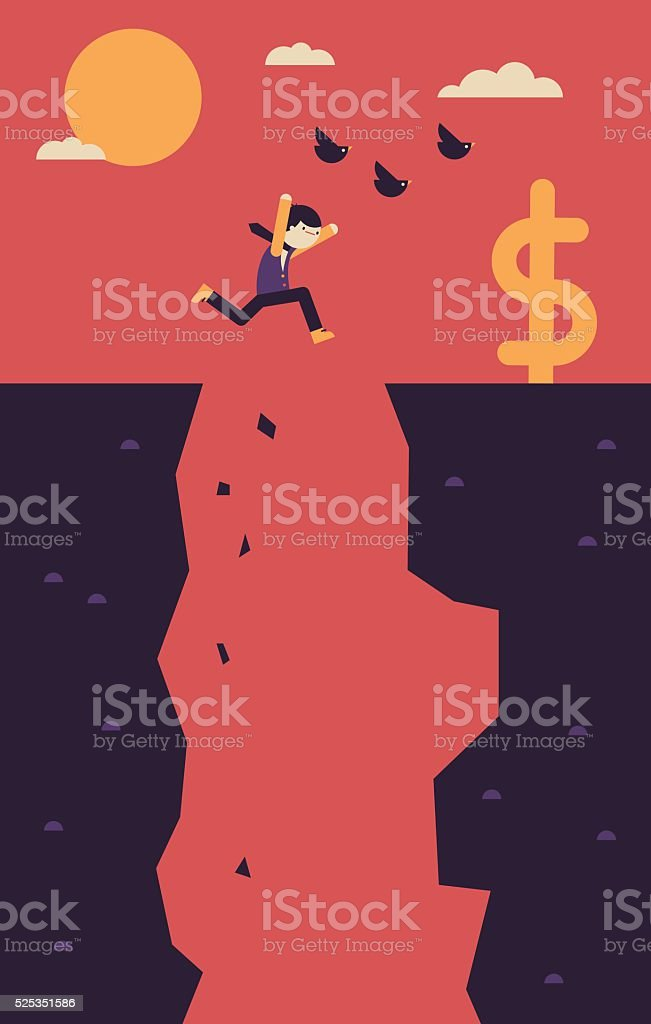 Assuming the Risk vector art illustration