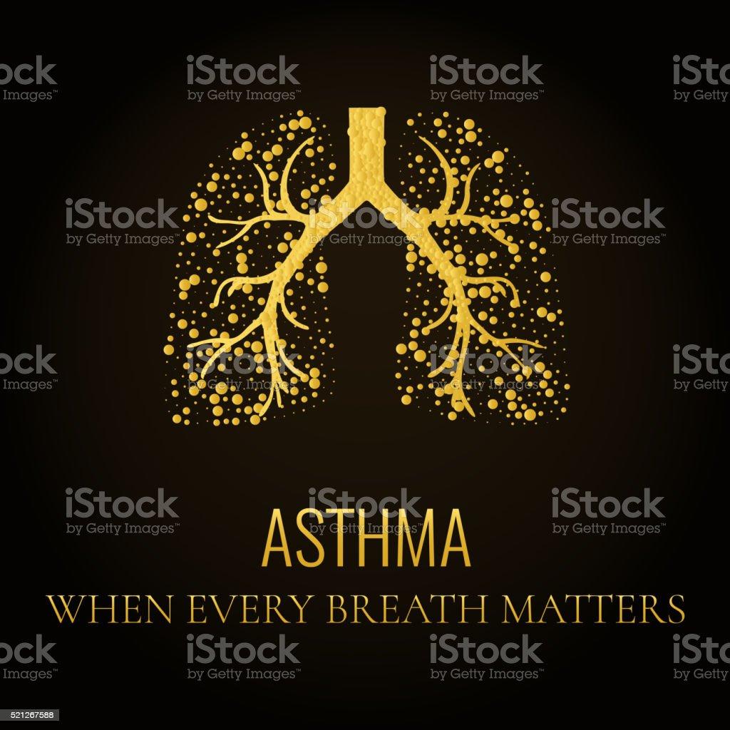 Asthma awareness poster vector art illustration