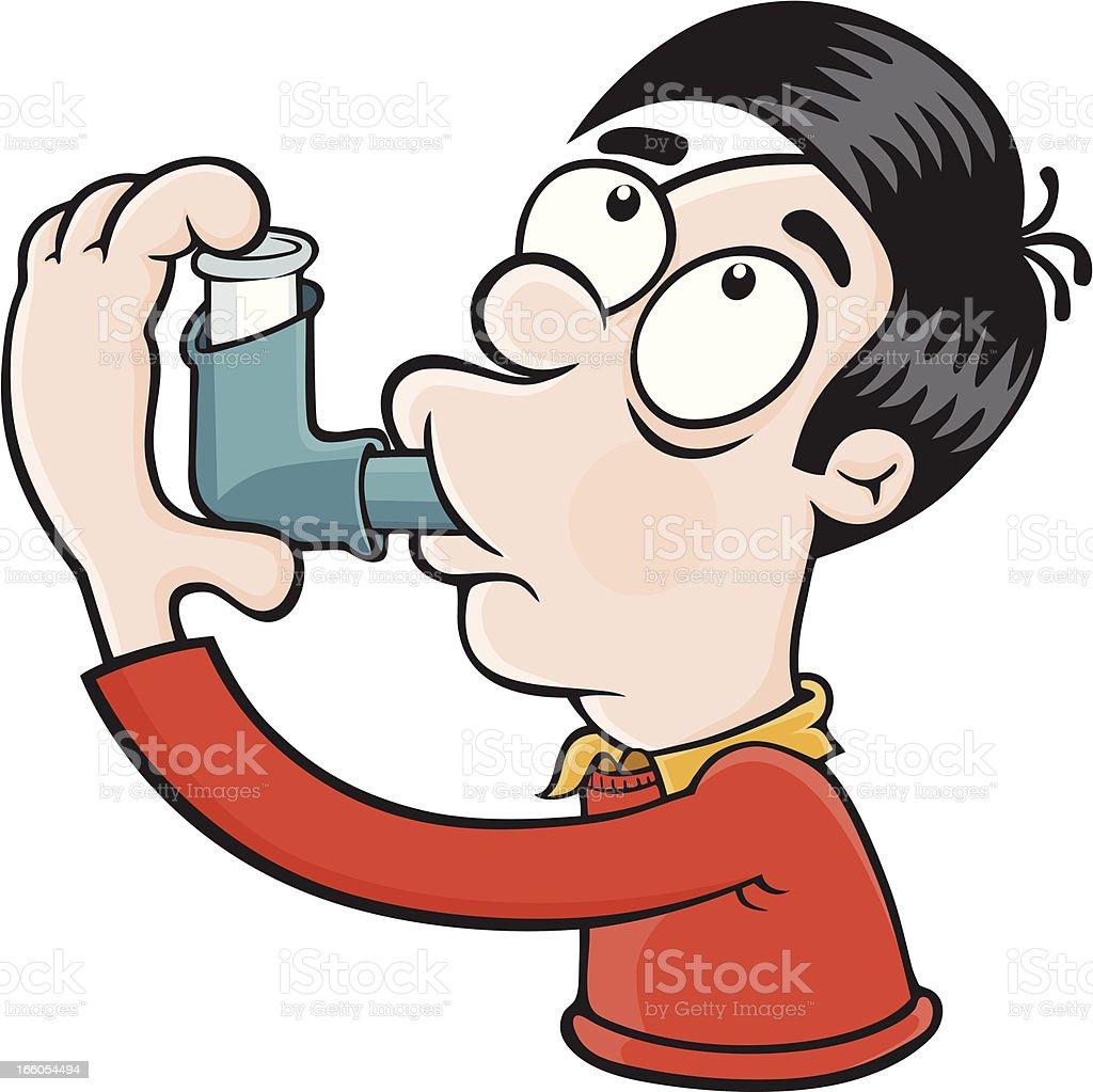 Asthmatic royalty-free stock vector art