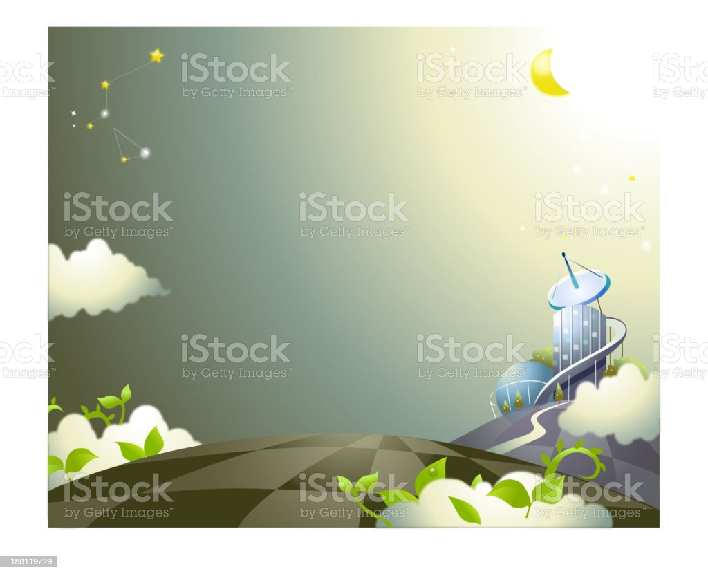 Astrology sign in sky royalty-free stock vector art