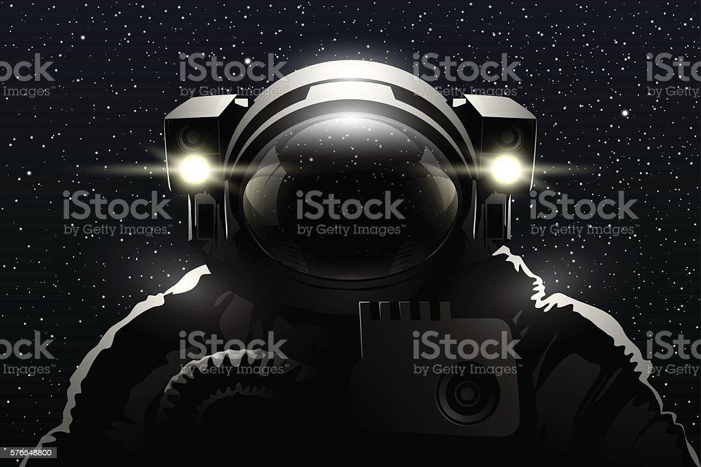 Astronaut vector art illustration