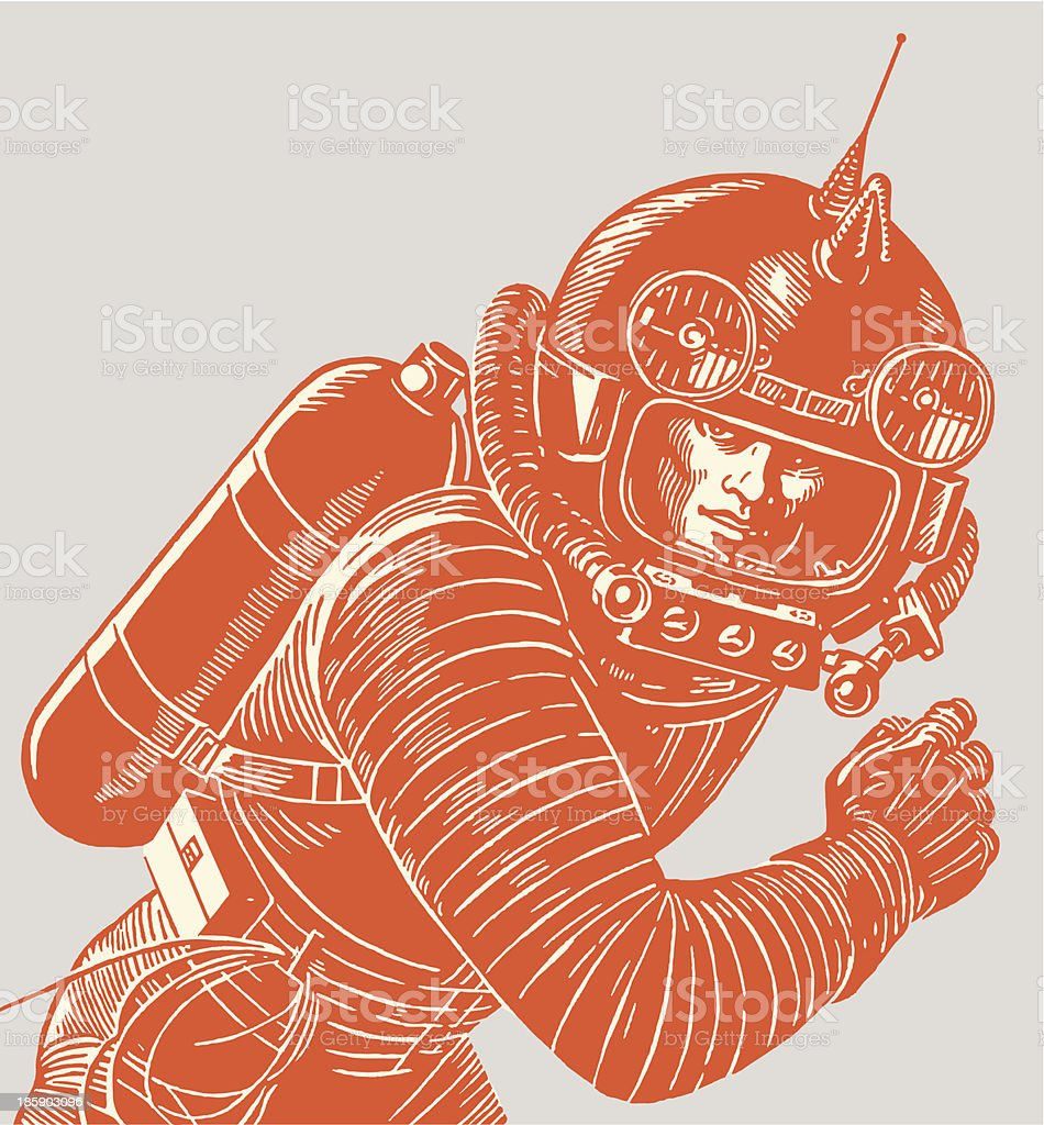 Astronaut Wearing a Spacesuit vector art illustration