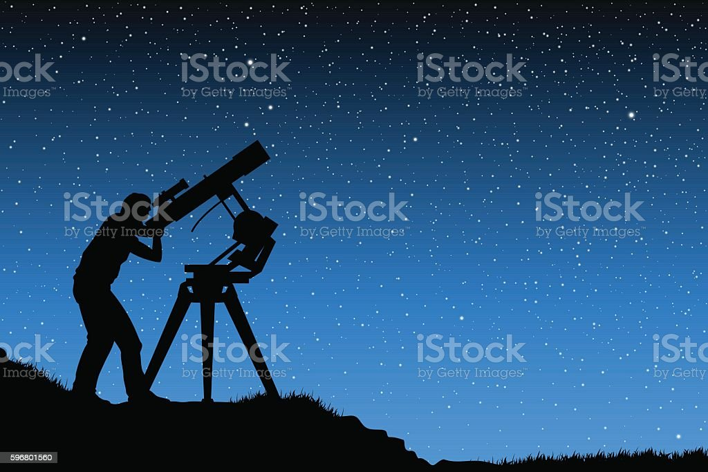 Astronomical observations vector art illustration