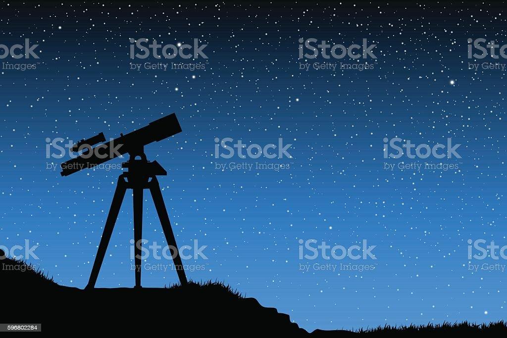 Astronomical observations vector art illustration