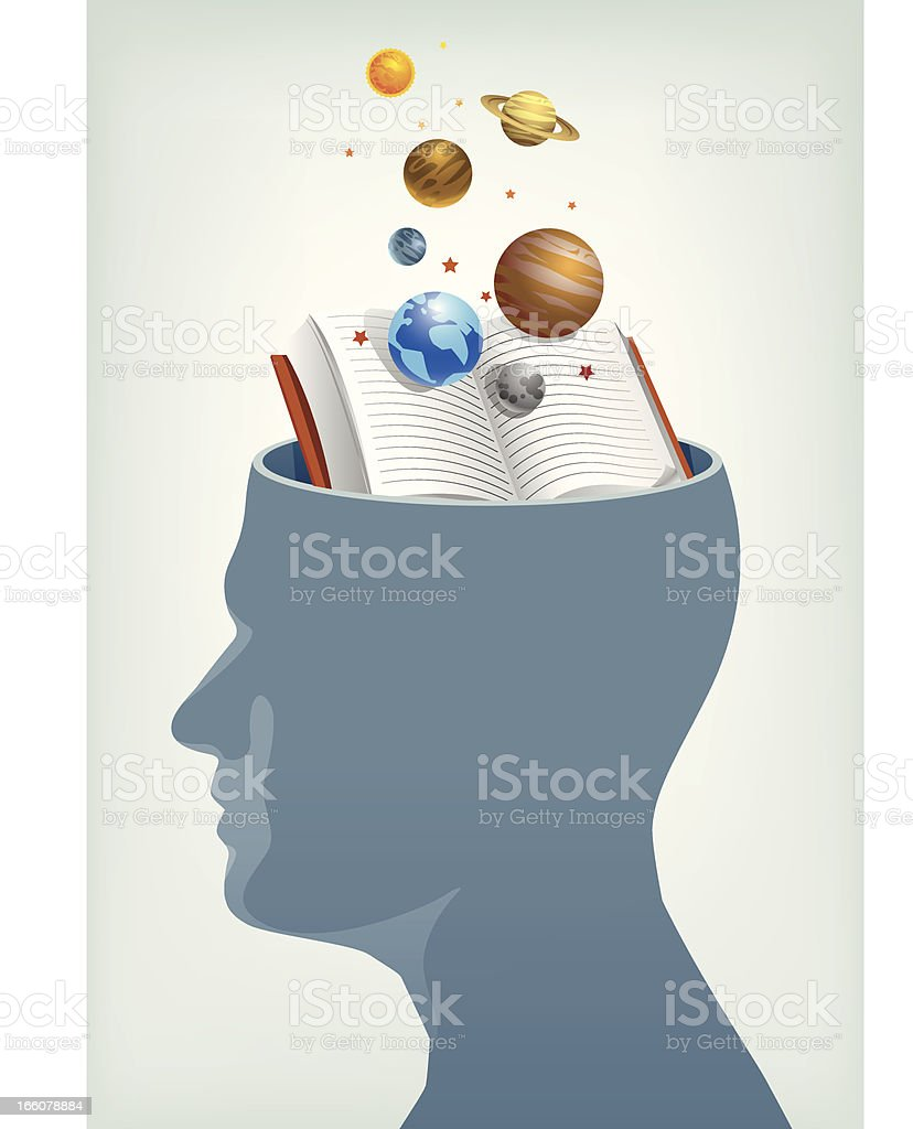 Astronomy education and ideas royalty-free stock vector art