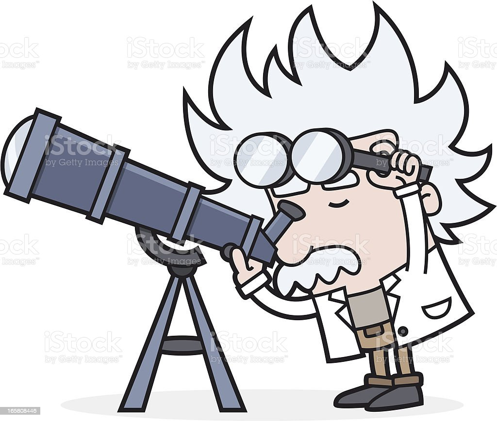 astronomy - look with telescope into space royalty-free stock vector art