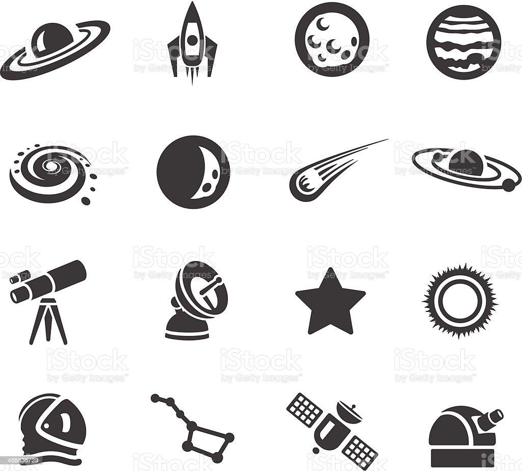 Astronomy Symbols vector art illustration