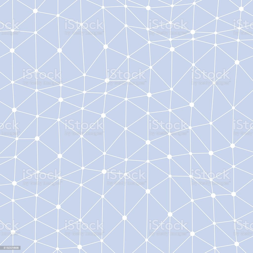 Asymmetrical connected dots background vector art illustration