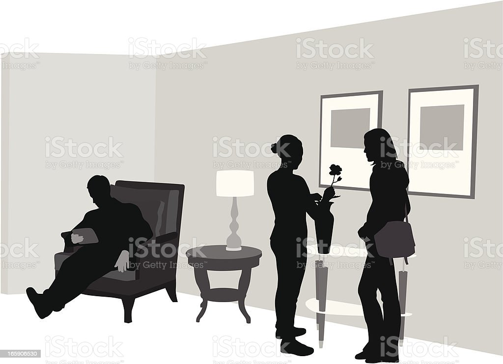At Home Vector Silhouette royalty-free stock vector art