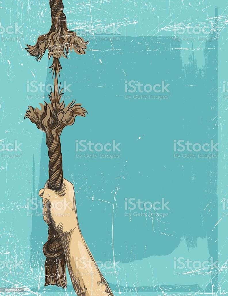 At The End Of Your Rope vector art illustration