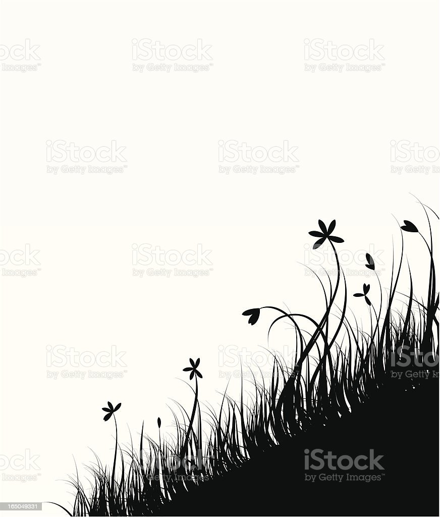 at the hillside royalty-free stock vector art