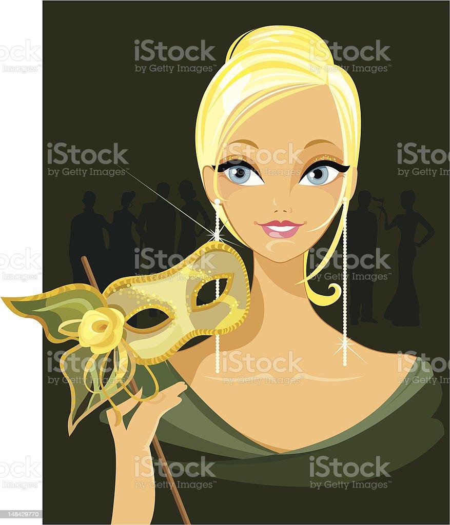 At the Masquerade royalty-free stock vector art