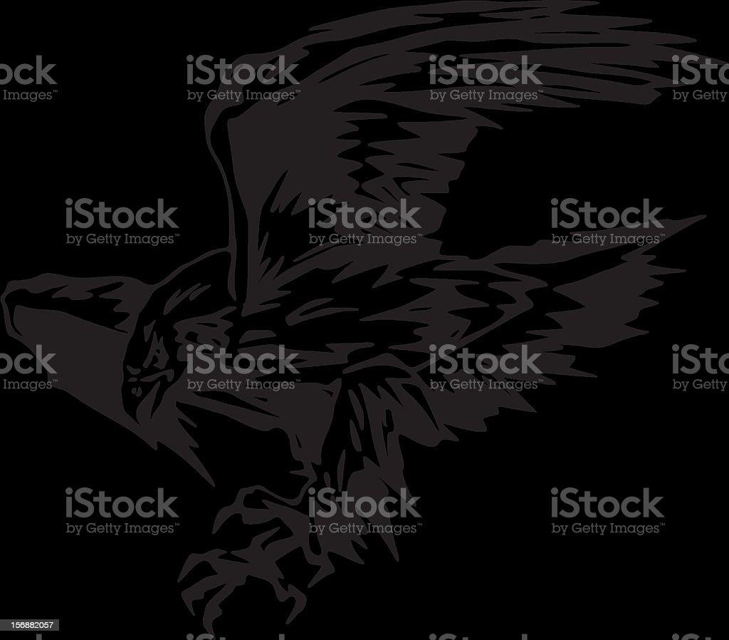 Atacking Eagle (Vector) royalty-free stock vector art
