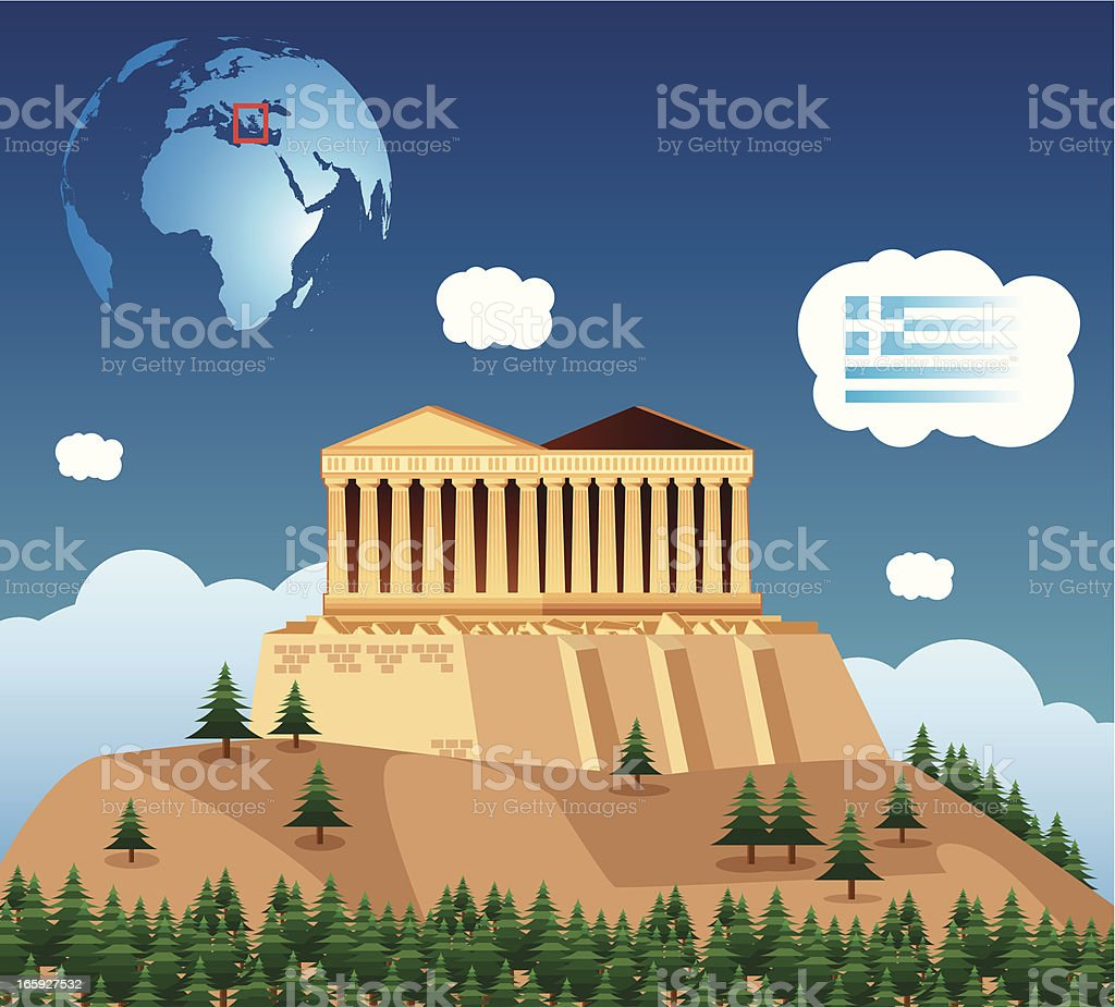Athens royalty-free stock vector art