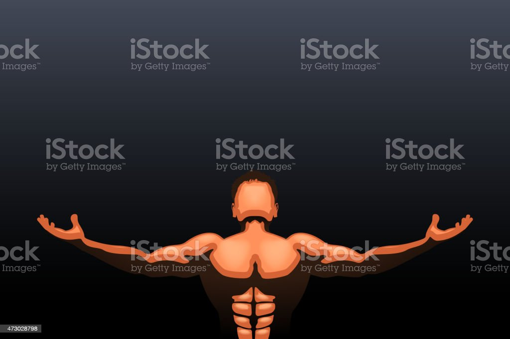 athlete vector art illustration