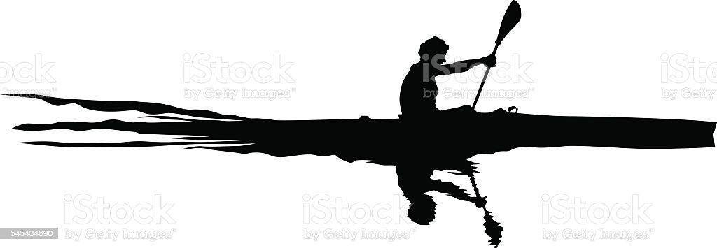 Athletes whit kayak vector art illustration