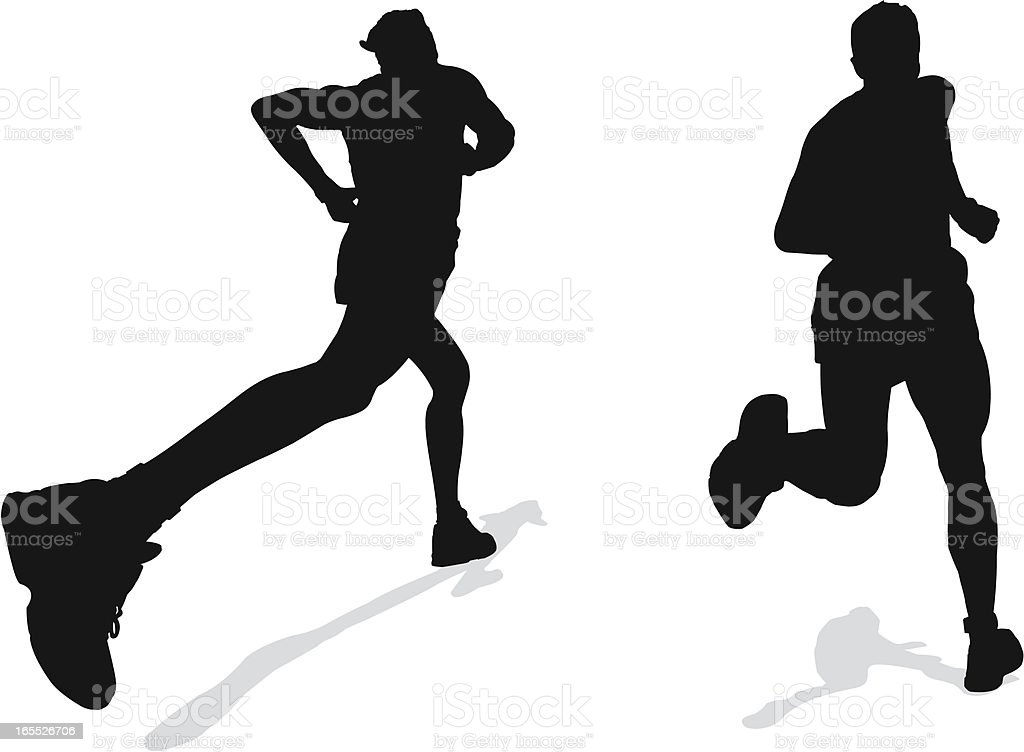 Athletic and healthy runners royalty-free stock vector art