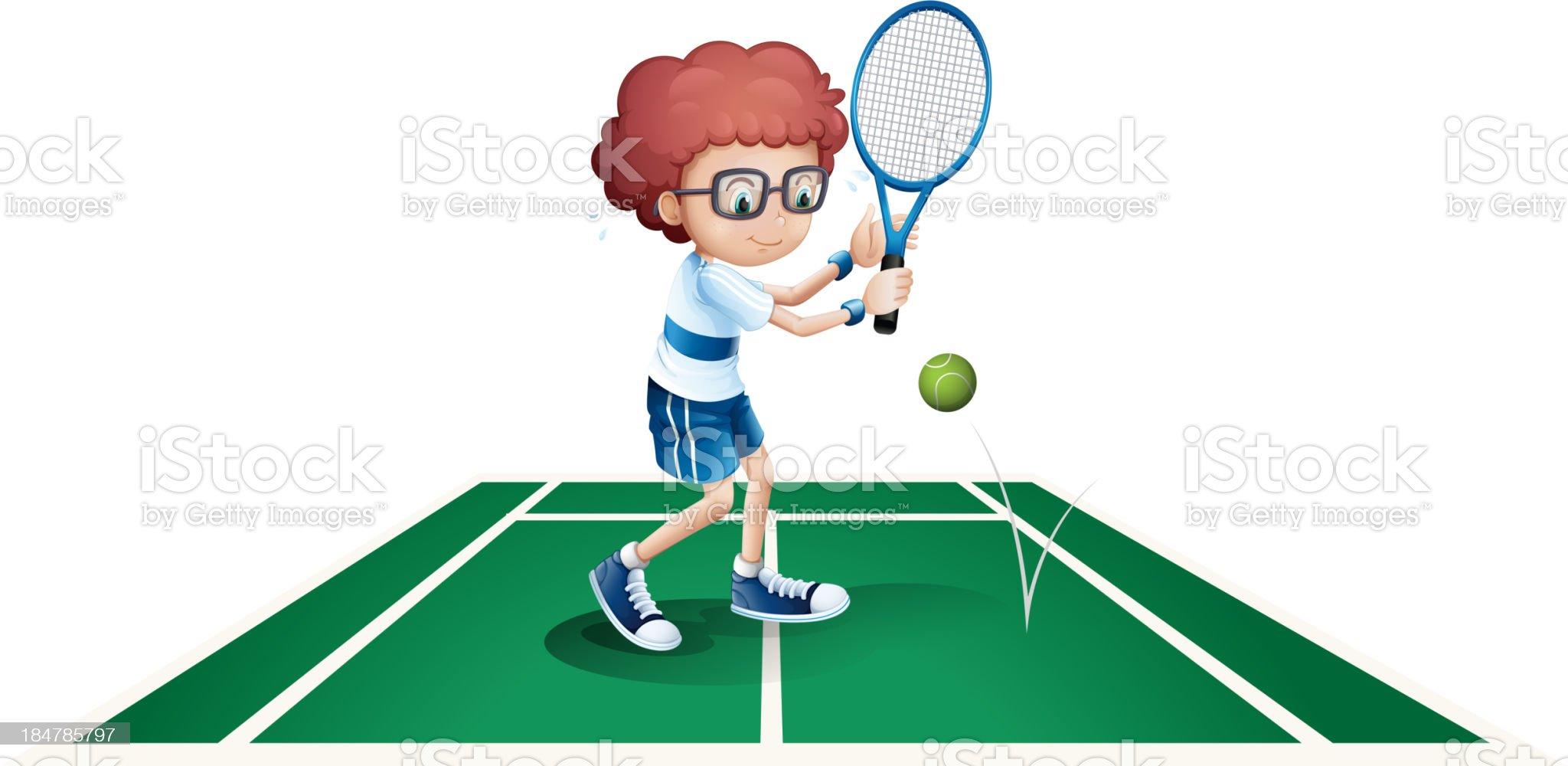 athletic boy royalty-free stock vector art