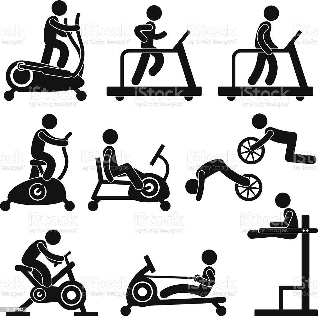 Athletic Gym Gymnasium Fitness Exercise Training Workout vector art illustration