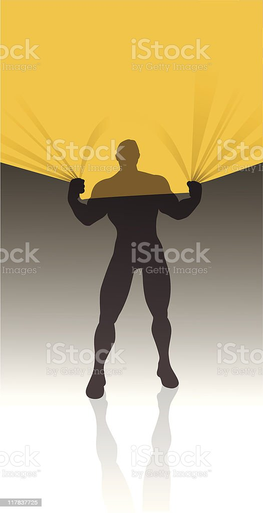 athletic man text area royalty-free stock vector art