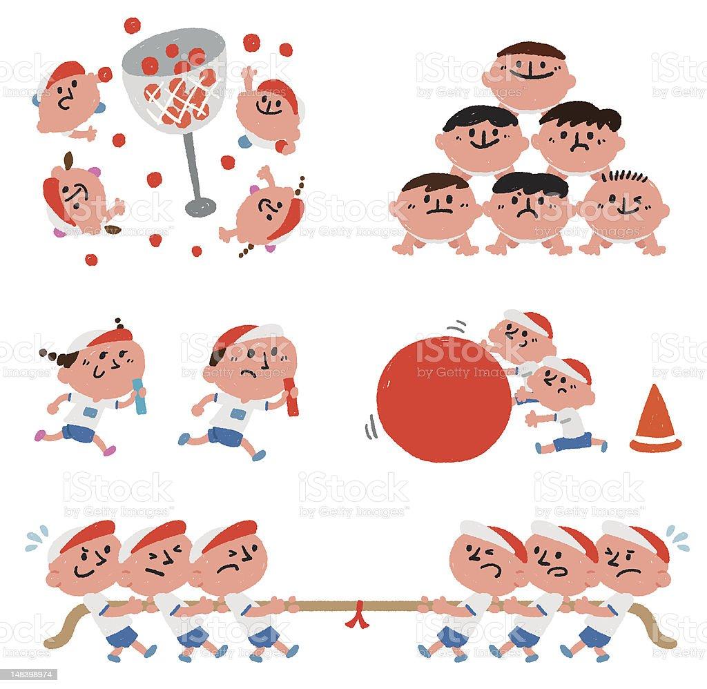 athletic meet vector art illustration