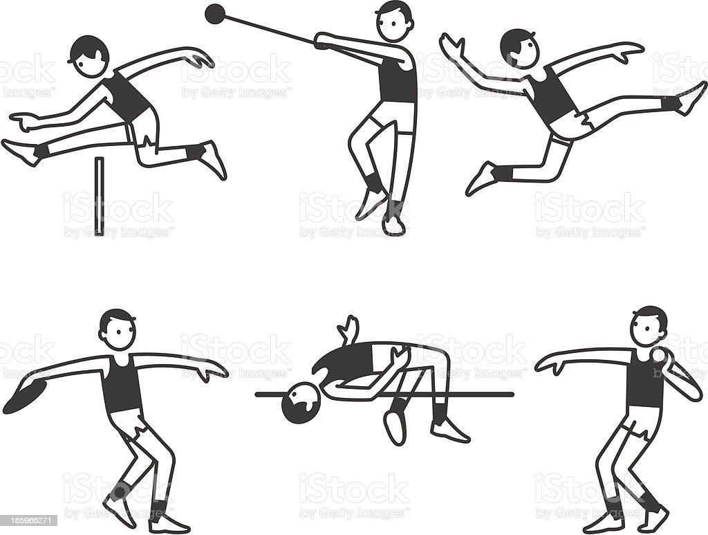 Athletics Men royalty-free stock vector art