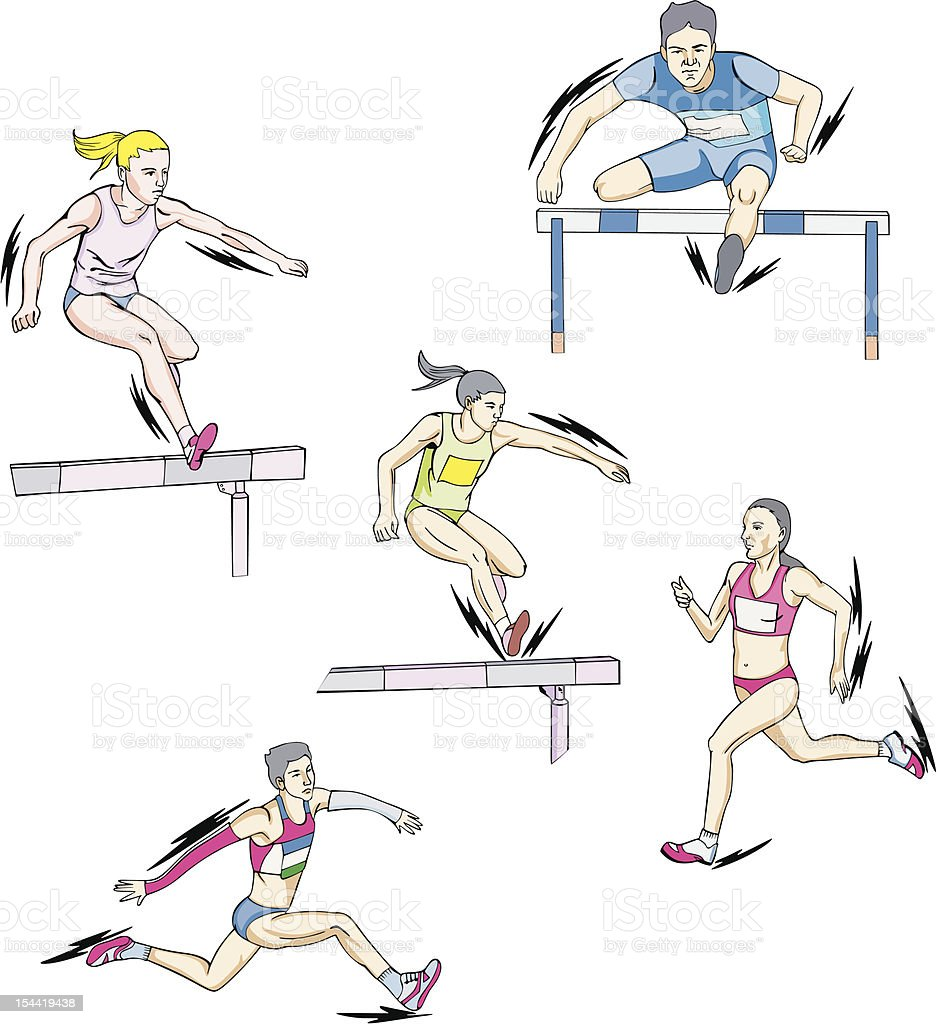 Athletics - run royalty-free stock vector art