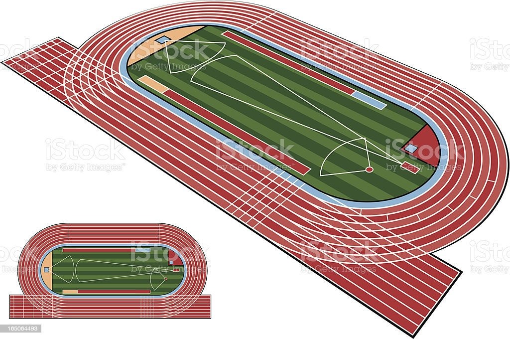 Athletics Stadium vector art illustration