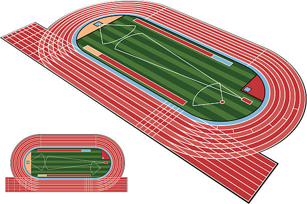 Track Field Clip Art, Vector Images & Illustrations - iStock