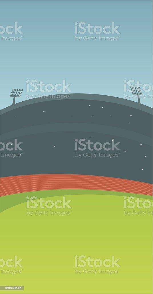 Athletics Stadium vector art illustration