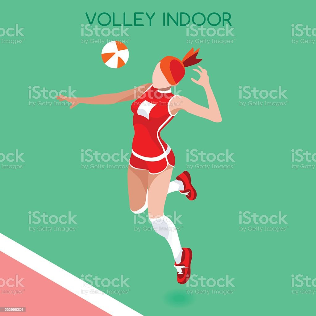 Athletics Volleyball Player Summer Games Athlete Sporting Championship International Competition vector art illustration