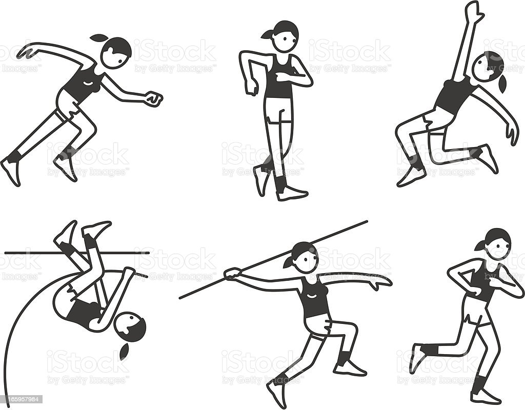 Athletics Women royalty-free stock vector art