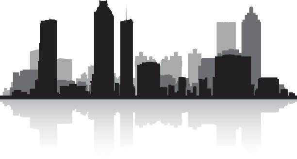 Atlanta Georgia Gift Skyline Silhouette GA City - Atlanta ...