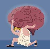Atlas holding a brain