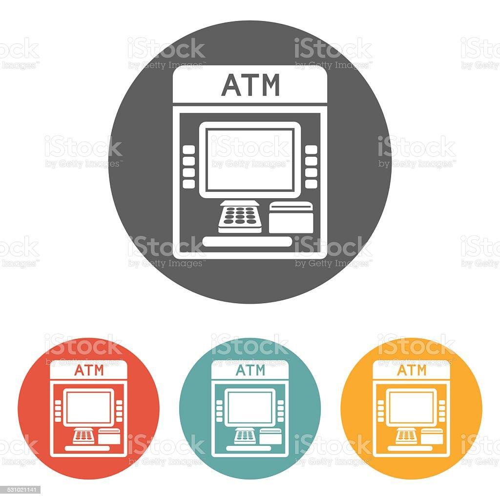 atm icon vector art illustration