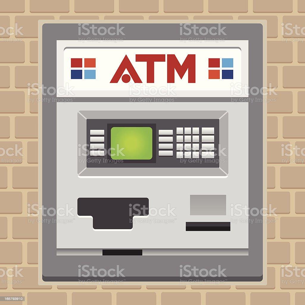 atm or cash machine vector art illustration