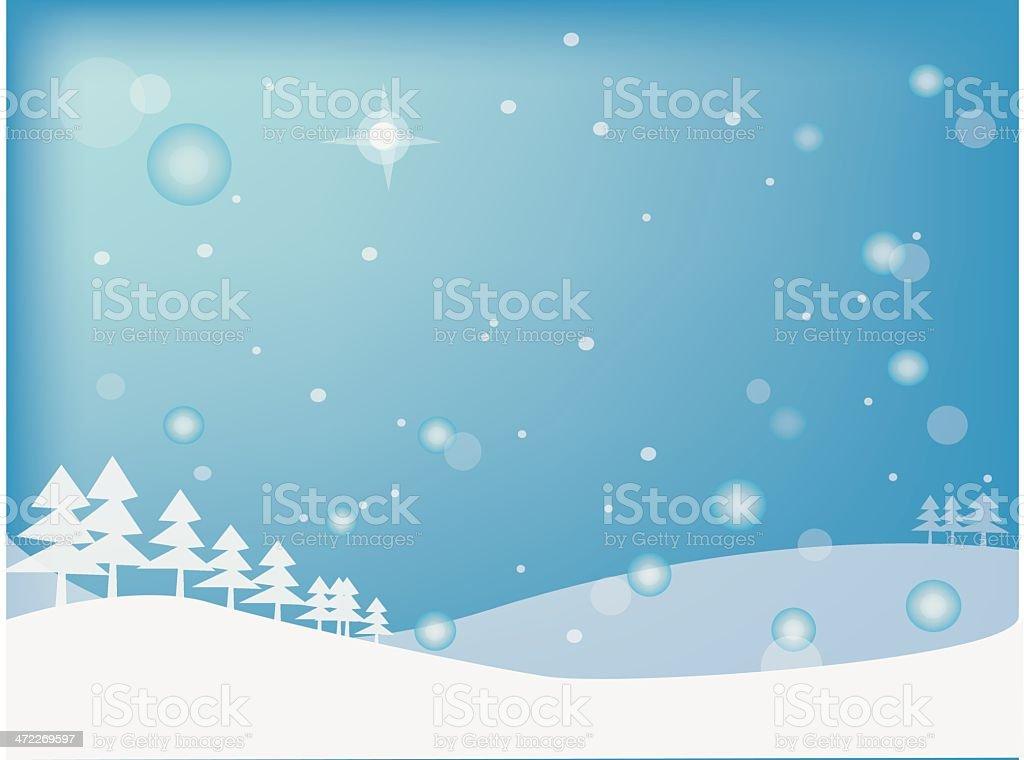 atmostpheric winter royalty-free stock vector art