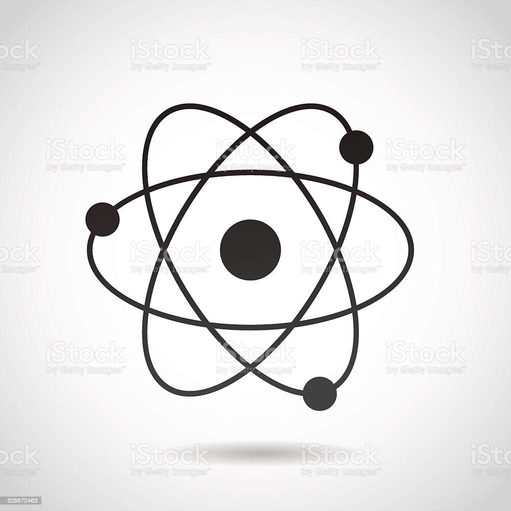 Atom icon isolated on white background. vector art illustration