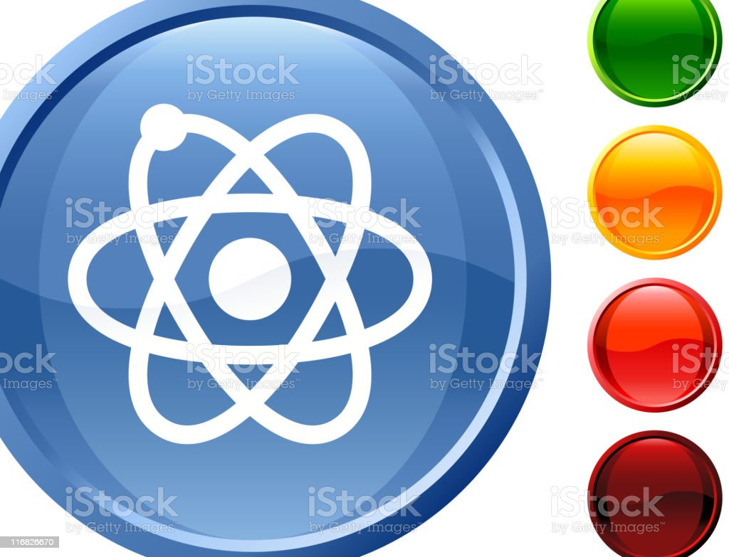 atom  glossy icon royalty-free stock vector art