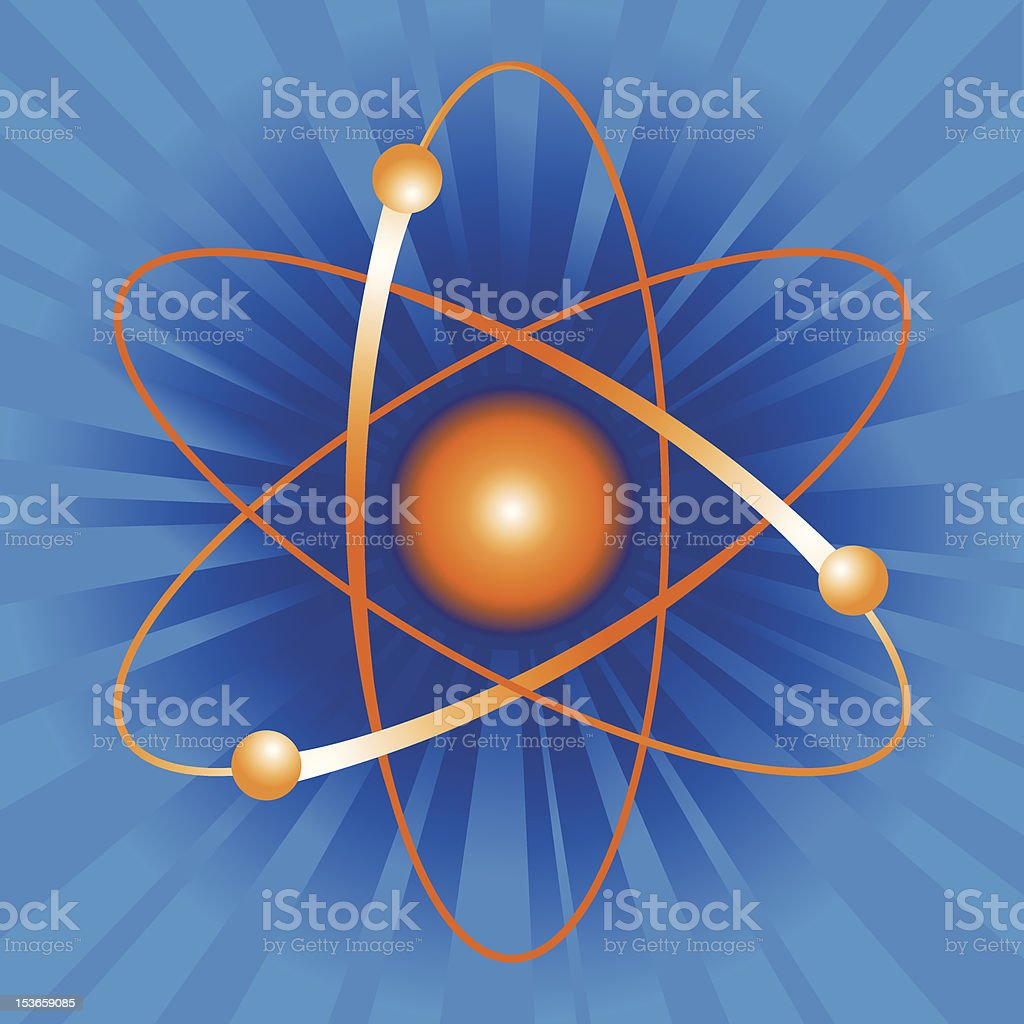Atom Model royalty-free stock vector art