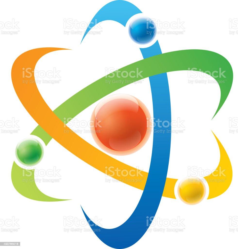 Atom sign vector art illustration