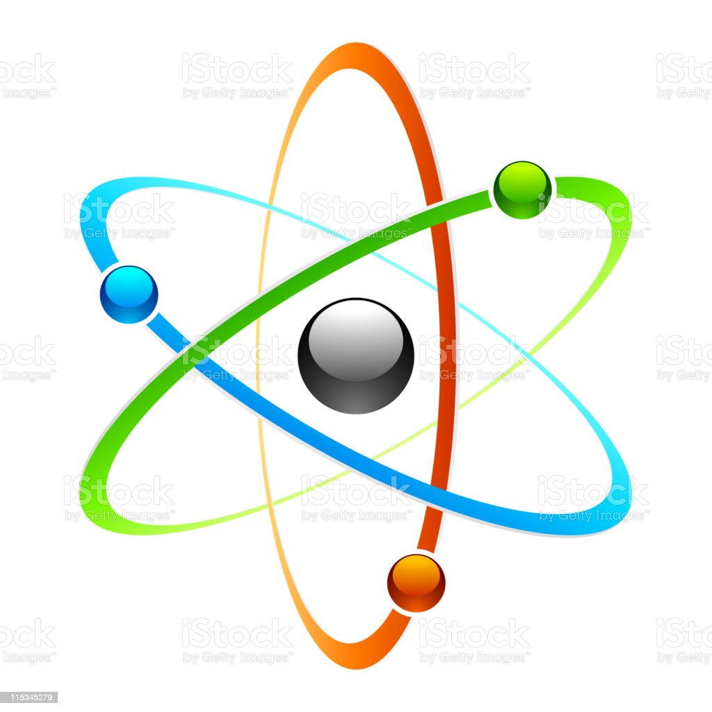 Atom symbol vector art illustration