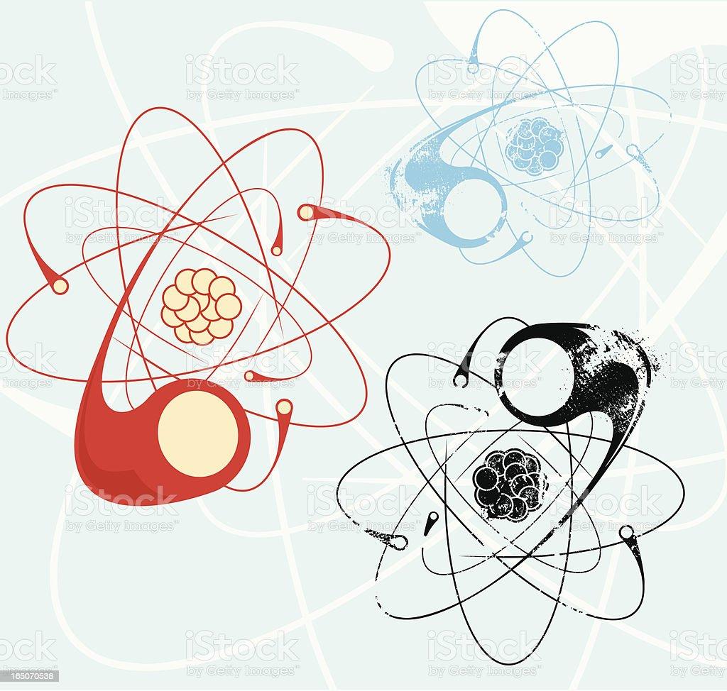 Atom vector collection royalty-free stock vector art