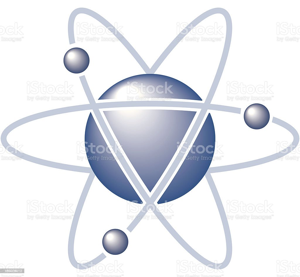 Atom royalty-free stock vector art