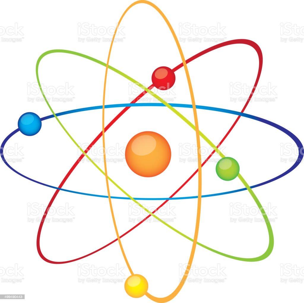 atom vector art illustration