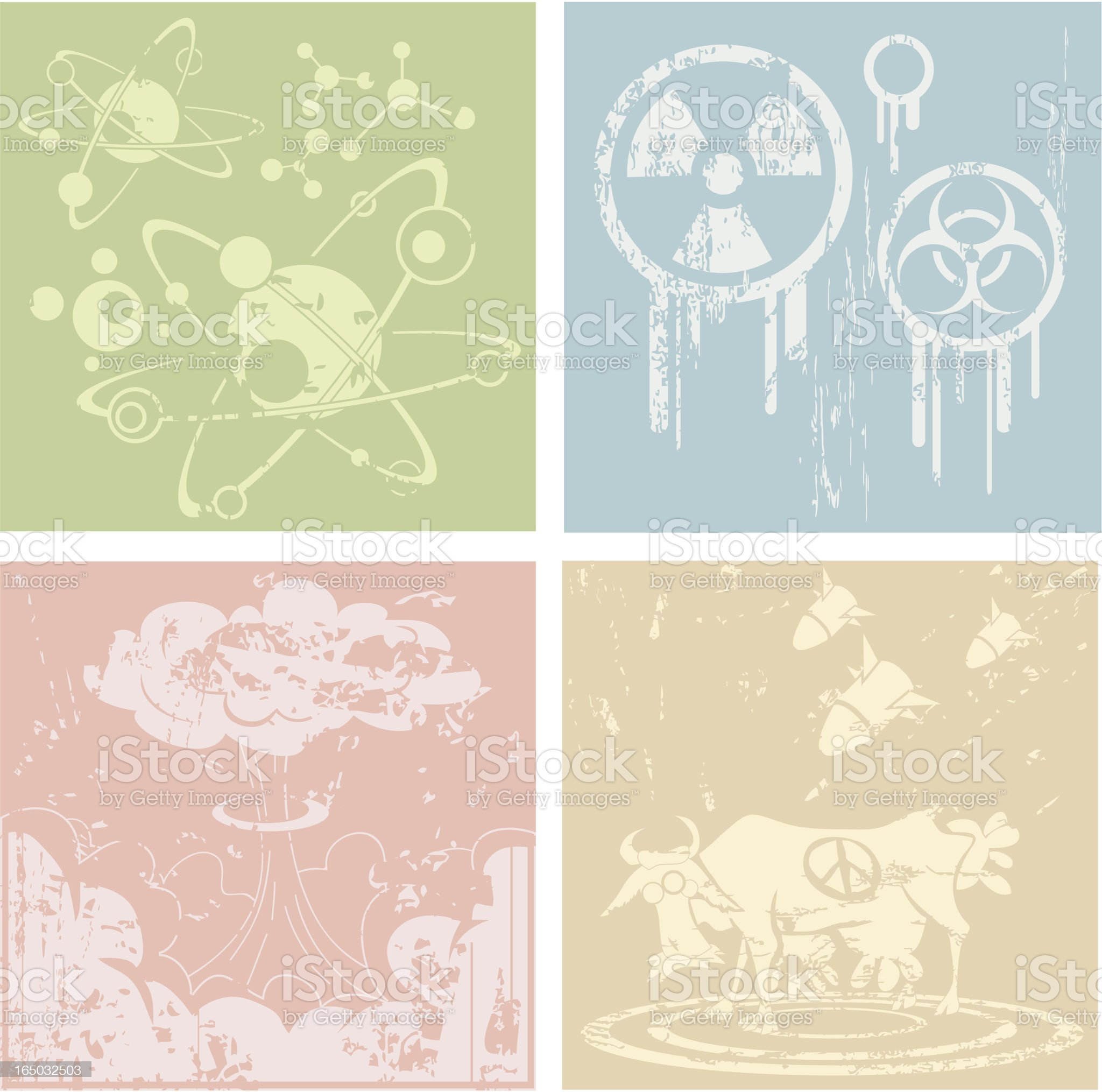Atomic Backgrounds royalty-free stock vector art
