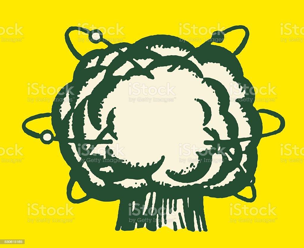 Atomic Bomb vector art illustration