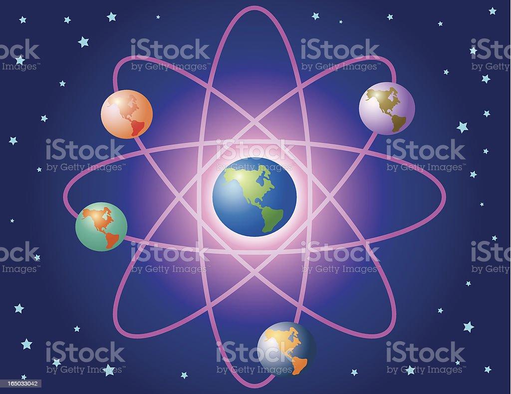 atomic earth energy royalty-free stock vector art