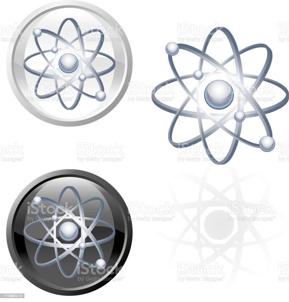 Atomic energy molecule Metal royalty free vector art royalty-free stock vector art